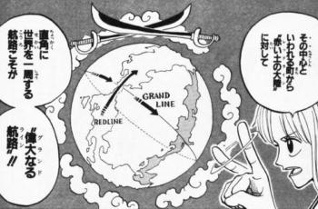 ワンピース世界の地形