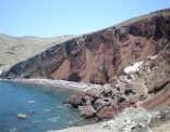 The most impressive rocky hill over beach I've ever seen: ladies and gentlemen, behold the famous Red Beach!