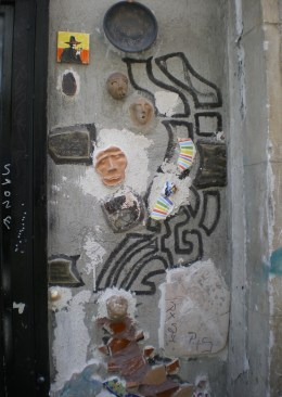 A-bit-of-everything street mosaic somewhere around Raval. I don't think Gaudí would approve!