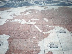 World map with the trips of the Portuguese pointed. Wanted to take this at home, but they wouldn't let me!