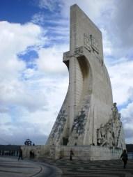 The magnificent Padrão dos Descobrimentos, overlooking Tagus river.