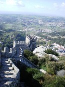 The walls of Castelo dos Mouros, overlooking the city of Sintra.