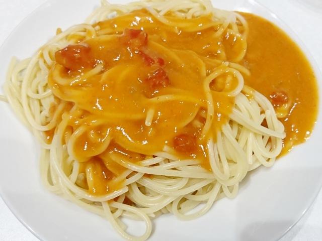 コスモス:蟹のトマトクリームの調理方法