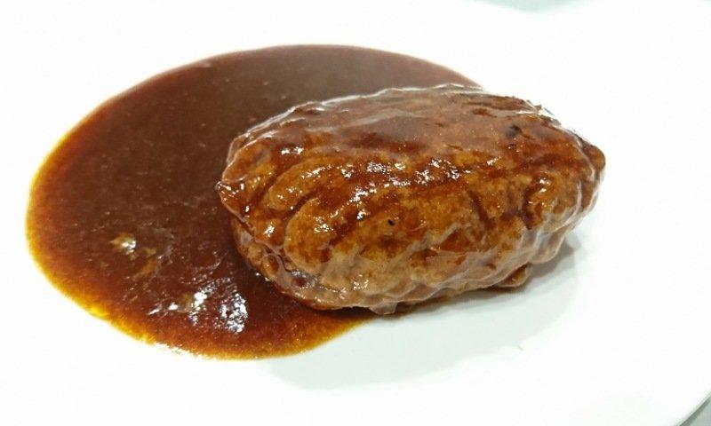 コスモス:ハンバーグステーキを食べる1