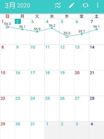 カレンダー形式