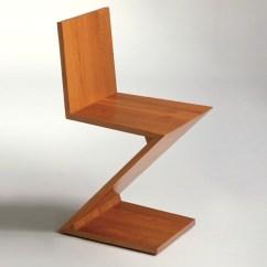 Gerrit Thomas Rietveld Chair Bike Stand Zig Zag By  Koursi