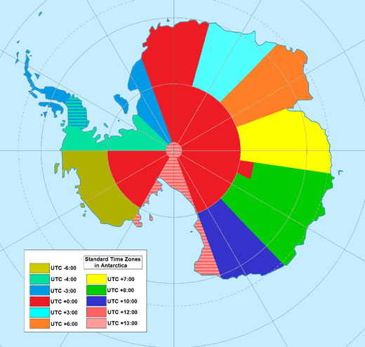Time zones in Antarctica, from Wikipedia