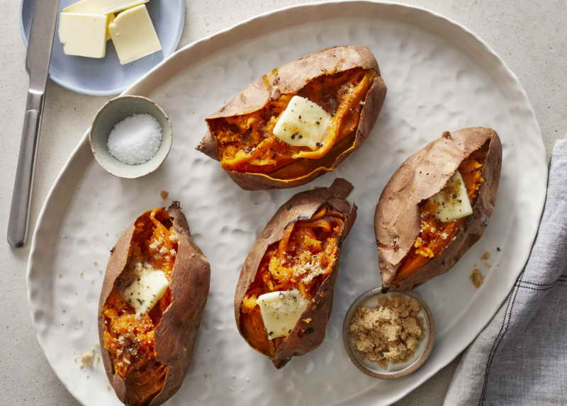 how to cook sweet potato in microwave