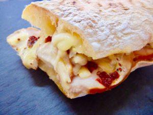 スモークチキンとチーズ