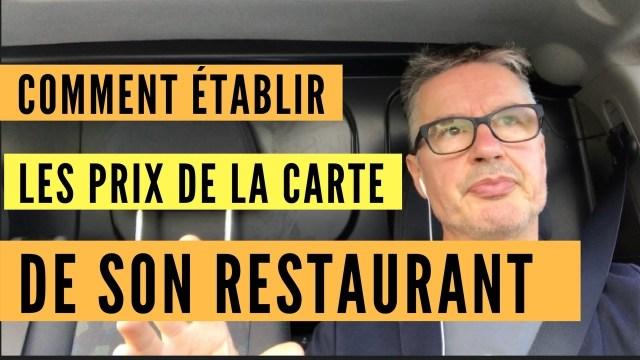 fixer prix restaurant