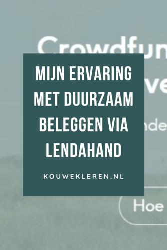 Mijn ervaring met duurzaam beleggen via Lendahand.