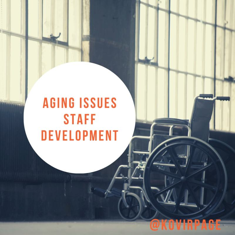 aging issues staff development by cover page