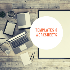 templates and worksheets by cover page