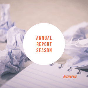 annual reports by cover page
