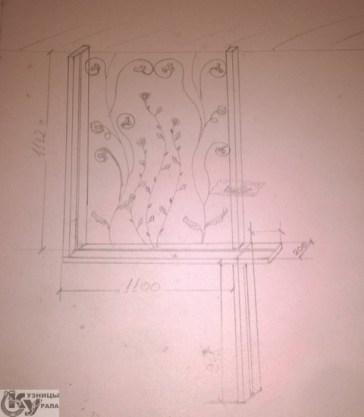 Кузницы Урала - кованый декор, художественная ковка декора, кованые розы, кованый рисунок растений.