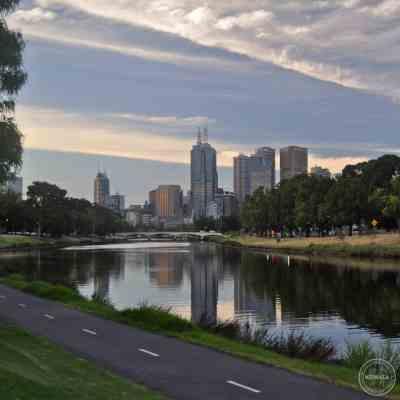 Melbourne depuis la Yarra river