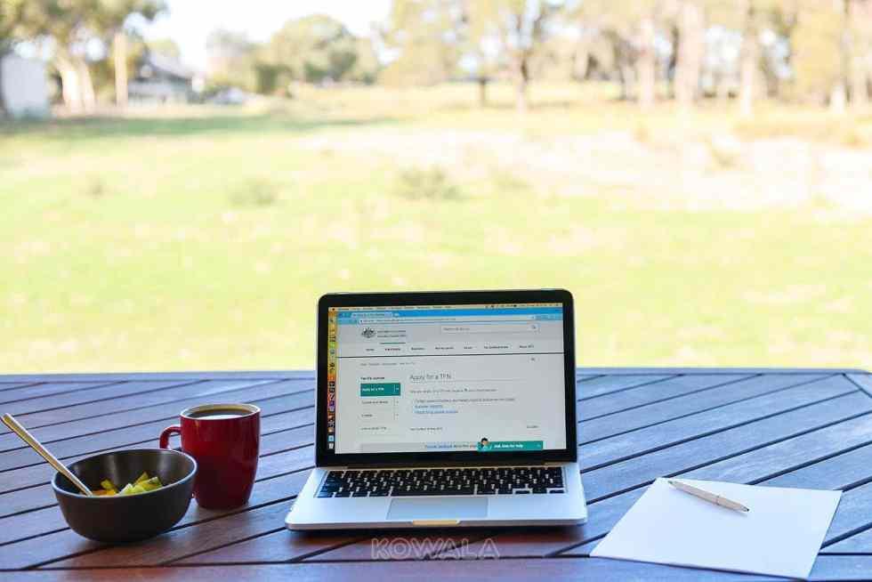 Demande Tax File Number TFN premier pas macbook WHV PVT Australie