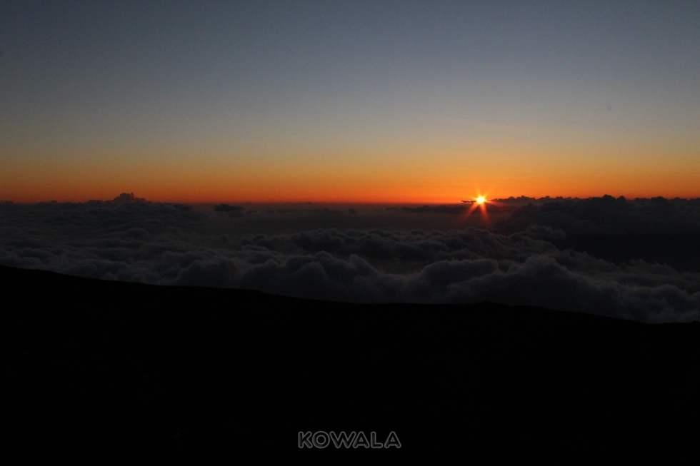 coucher de soleil à maui