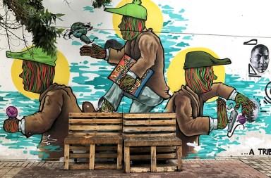 grafiti dans les rues de Mobaneng - Johannesburg