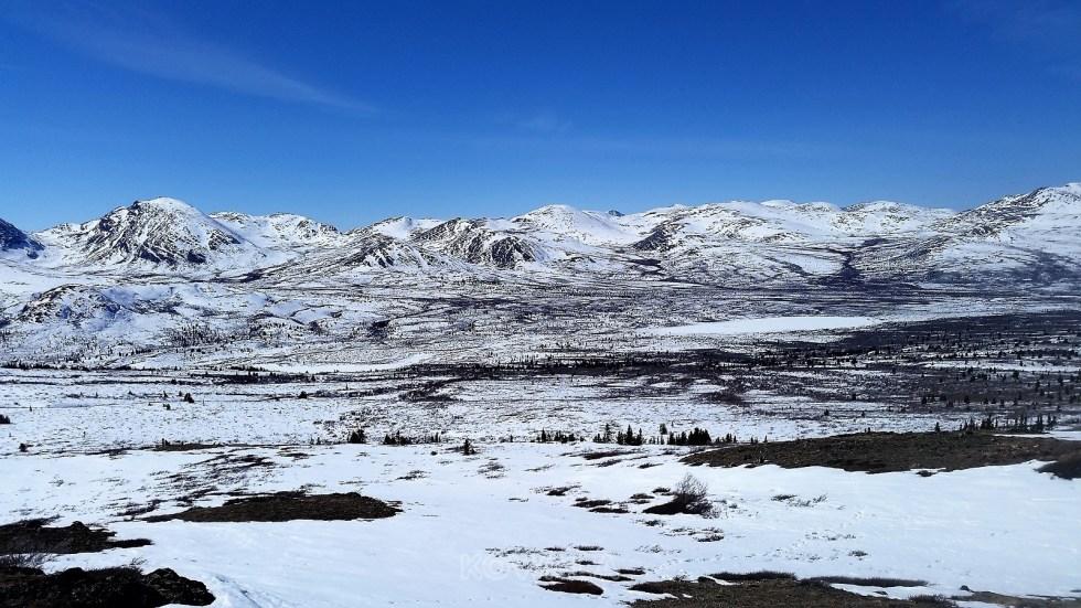 randonnées en hiver au Yukon - Fish Lake
