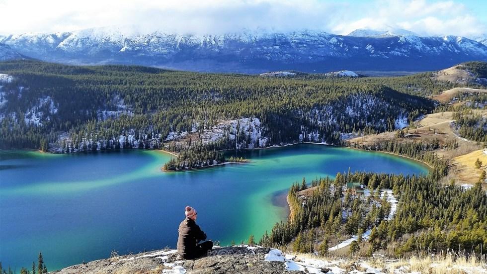 Lac Émeraude, le plus photographié du Yukon, Canada