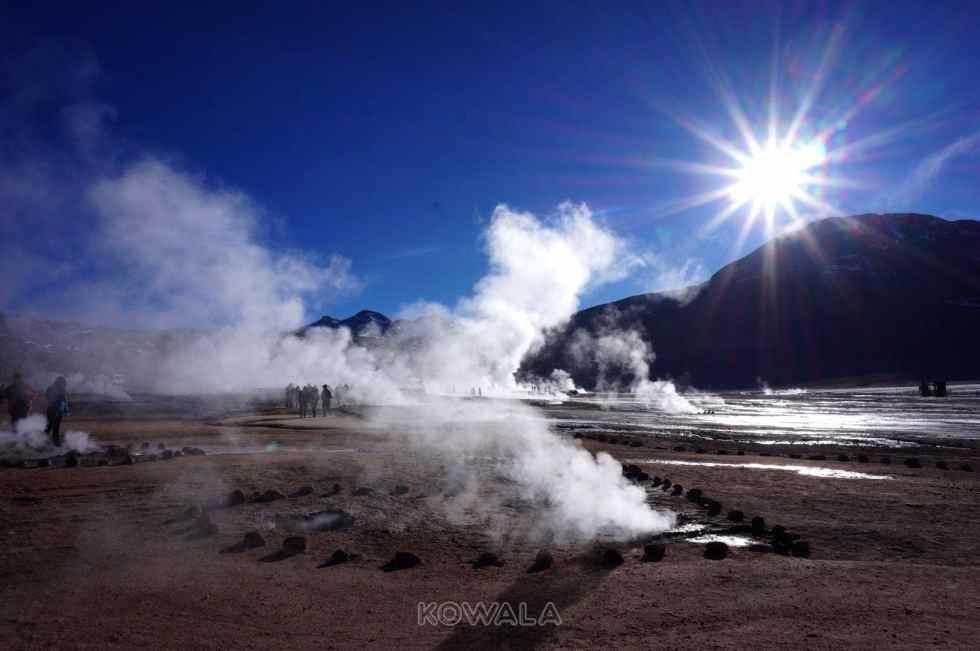 Les geysers del Tatio, près de San Pedro de Atacama.