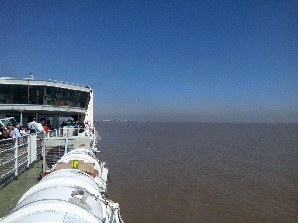 Sur le ferry entre Buenos Aires et Colonia, entre l'Argentine et l'Uruguay
