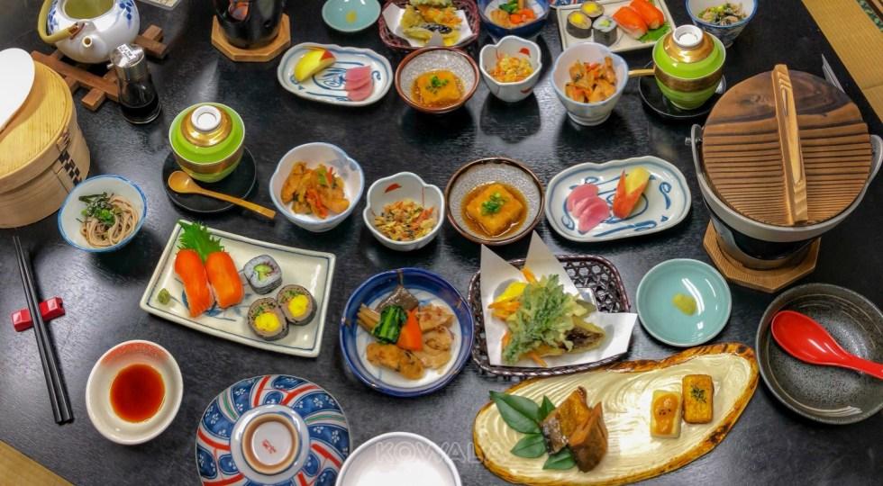 Repas de Ryokan à Magome