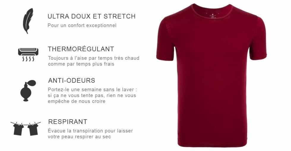 caracteristique tshirt merinos seagale