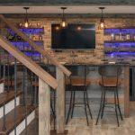 Mequon Swanky Barnwood Basement Bar Kowalske Kitchen Bath