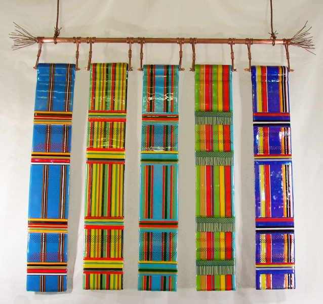 Fused Glass Wall Hanging Kente Cloth