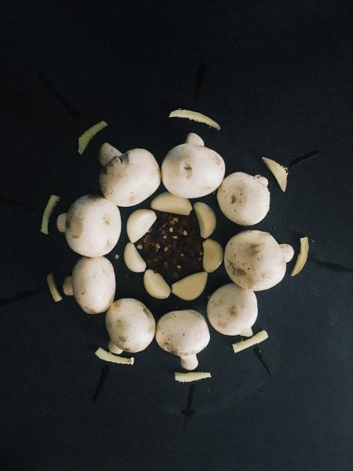Mushrooms pickled