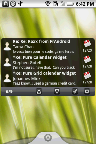 Pure messenger – Android 'Pure' widgets series (calendar)
