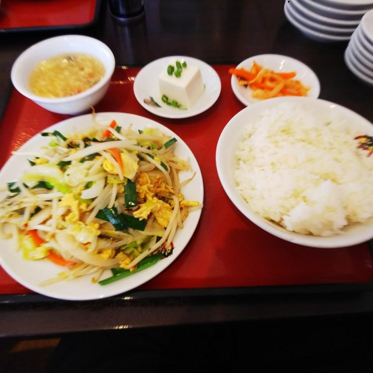 玉子野菜炒め定食