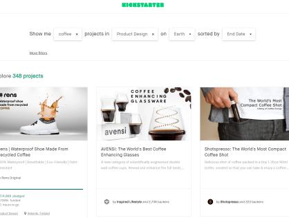 Zrzutka na kawę - gadżety z Kickstarter-a
