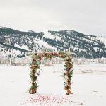 altar para una boda de invierno