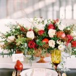 cubiertos y vajilla boda invierno