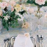 vajilla para boda en primavera, catering madrid