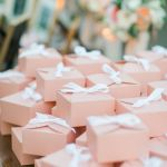 caja detalles invitados rosados