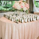 mantel rosado para bodas, catering madrid