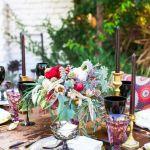 mesas con flores exoticas, catering madrid