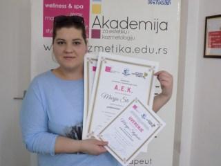 Marija Stojković, akademski kurs za profesionalnog šminkera