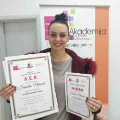 Sandra Petrović, akademski kurs profesionalnog šminkanja