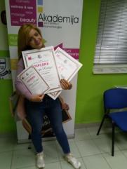 Marija Radonjić, kurs profesionalnog šminkanja