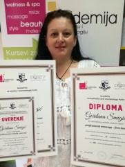 Gordana Šmigić, kurs profesionalne masaže