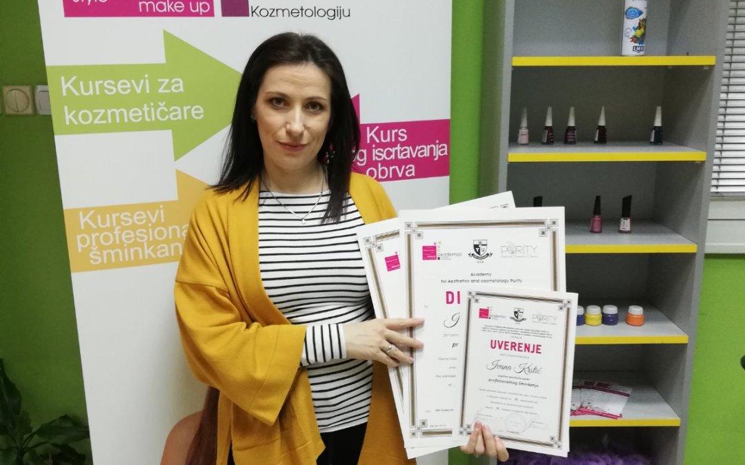 Ivana Krstić, kurs profesionalnog šminkanja