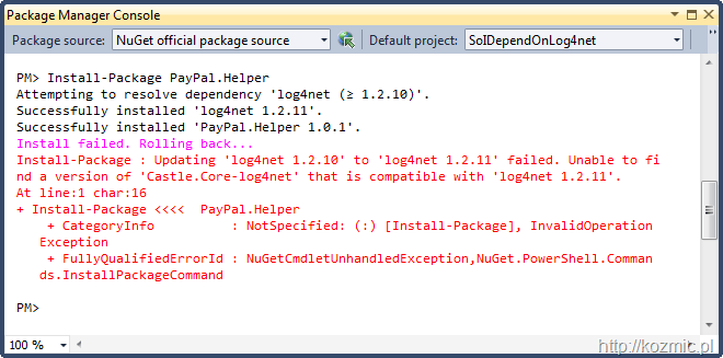 nuget_log4net_fail
