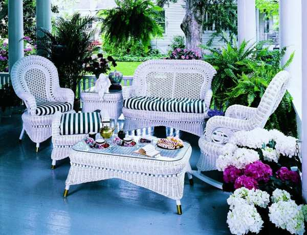 Country Porches Wicker Furniture