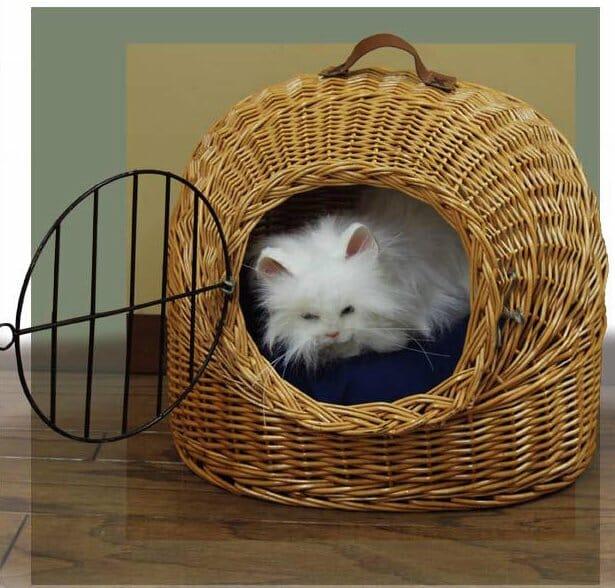 Wicker Cat Carrier Basket  Kozy Kingdom