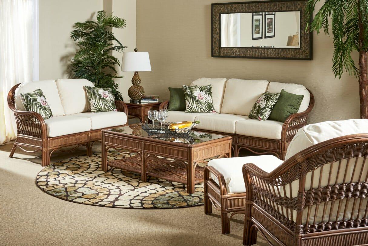 curved sofa set india dog beds canada bermuda rattan kozy kingdom
